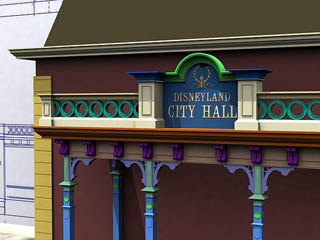 City Hall on Main Street U.S.A. at Disneyland