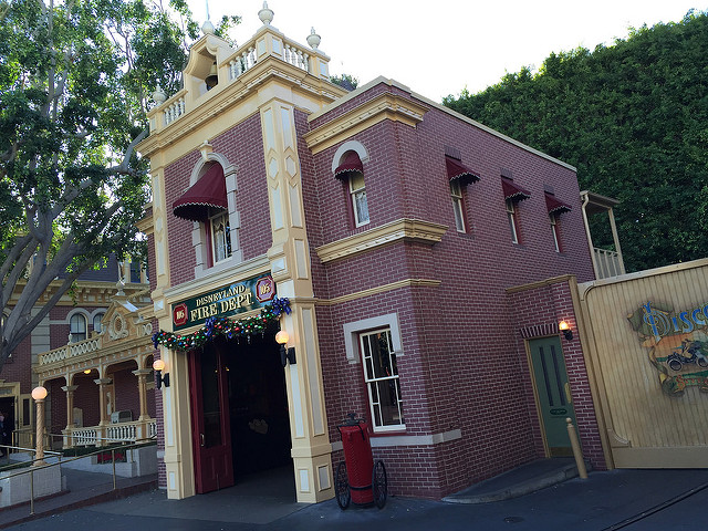 Firehouse on Main Street U.S.A. at Disneyland