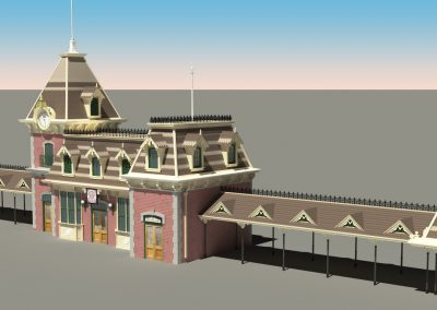 Disneyland Main Street Train Station 3D Model