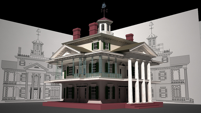 Haunted Mansion at Disneyland in 3D