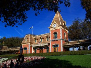 Disneyland Main Street Train Station Photo