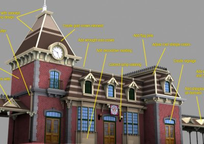 Disneyland Main Street Train Station Change Log