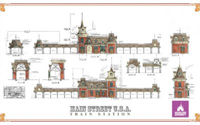 Coloring the Disneyland Main Street Train Station Blueprint