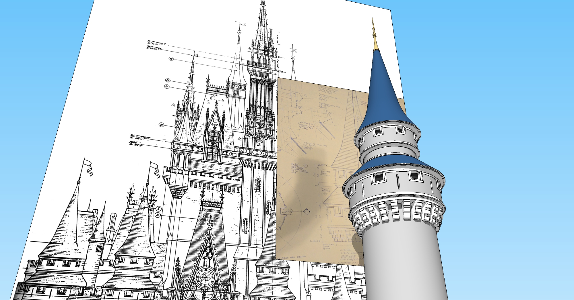 Disney World Cinderella Castle 3D Render