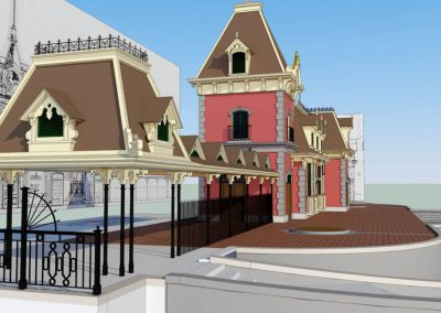 Disneyland Main Street U.S.A. Train Station 3d Model