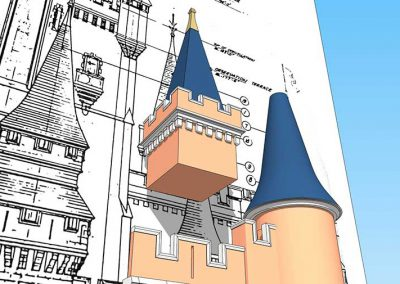 Walt Disney World - Cinderella Castle - 3D Model - Tower 19
