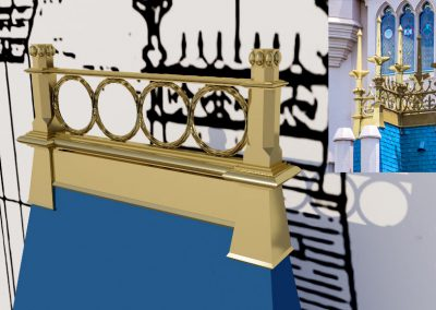 Walt Disney World - Cinderella Castle - 3D Model - Gold Rooftop Decoration