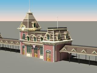 Disneyland Main Street Train Station