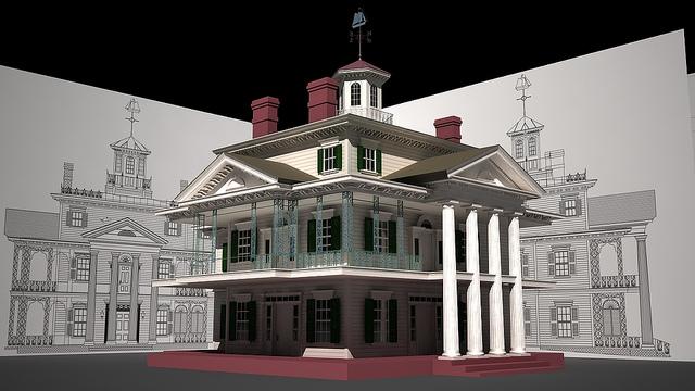 Haunted Mansion at Disneyland in 3D