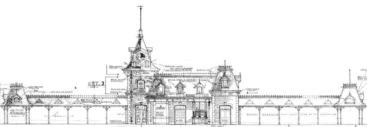 Disneyland Railroad Main Street Train Station Blueprint