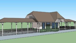 isneyland new orleans square train station 3D model