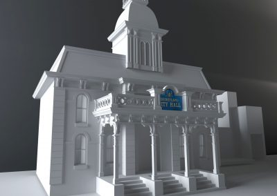 Disneyland Main Street U.S.A. City Hall 3d Model