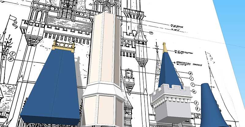 Walt Disney World - Cinderella Castle - 3D Model - Tower #1