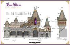 disneyland fantasyland - snow white's scary adventures colored blueprint