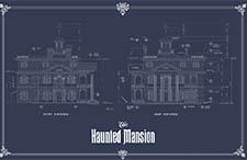 disneyland haunted mansion - blueprint